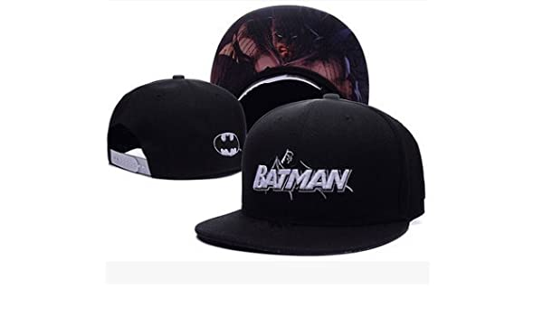 Amazon.com: Batman Fashion Unisex Snapback adjustable Baseball Cap Hip Hop hat Batman(color 2): Sports & Outdoors