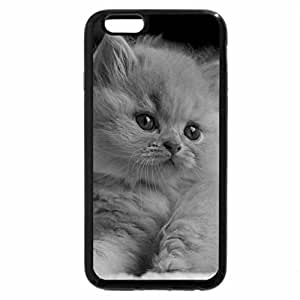 iPhone 6S Case, iPhone 6 Case (Black & White) - On pink sofa