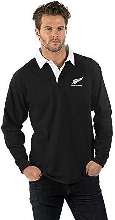 Nueva Zelanda de Manga Larga Camisa de Rugby - New Zealand ...