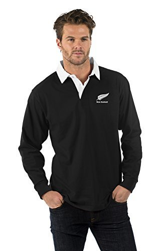 Nueva Zelanda de Manga Larga Camisa de Rugby - New Zealand Long ...