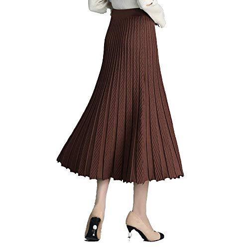 Pour Aux Café Tricoté Chandail hiver Uniform Et Code À Femmes Hanches Oudan La Plissée Jupe Noir Automne coloré Taille ICqS1
