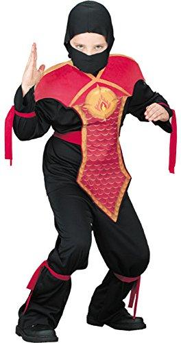 Child's Jackie Chan Red Ninja Costume (Size: Medium 8-10)