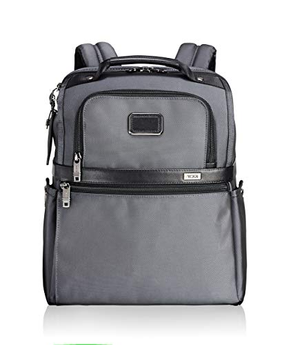 TUMI - Alpha 2 Slim Solutions Laptop Brief Pack - 15 Inch Computer Backpack for Men and Women - Pewter