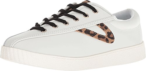 - Tretorn Women's Nylite 25 Plus Lace Up Sneakers, Vintage White/Tan Multi, 5 M US