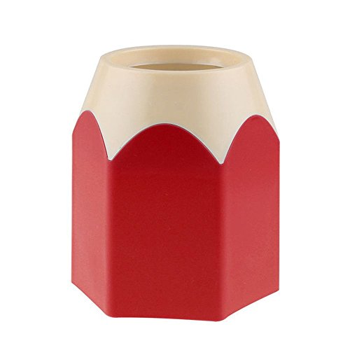 New Stationery Container Fashion Makeup Brush Pen Pencil Pot Holder Organizer (Red)