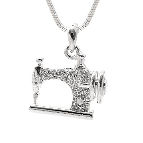 SpinningDaisy Silver Crystal Machine Necklace