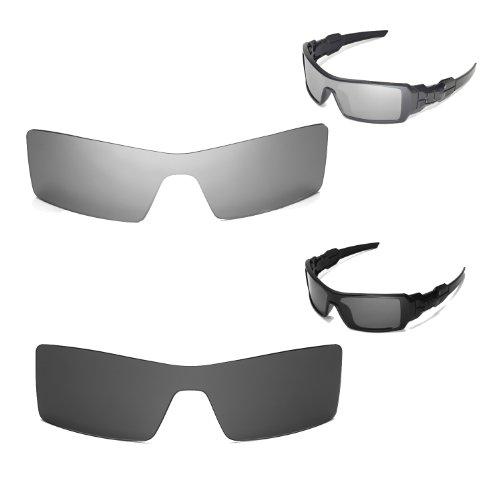 New Walleva Polarized Black+ Titanium Lenses For Oakley Oil Rig
