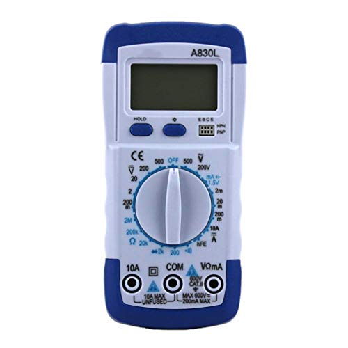 (FridCy Digital Multimeter, High Precision Ammeter Voltmeter Universal Meter, LCD Display True RMS Measurement AC/DC Voltage Current Resistance Frequency Temperature Diode Tester Repair Gadget by Fri )