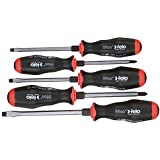Felo 0715750707 Set of 5 Metal Slotted & Phillips Screwdrivers, 550 Series