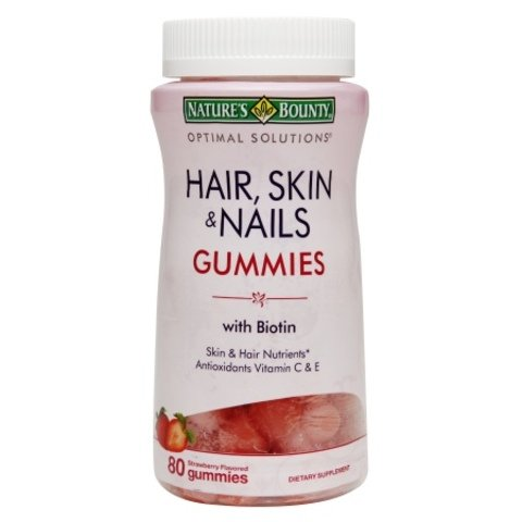 Nature's Bounty¢ç Hair Skin and Nails, 80 Gummies , Pack of 5 ,Bounty -gtrj