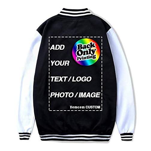 Tencen Custom Varsity Jacket Design Your Own Letterman Bomber Award Teddy Souvenir Jacket 1 Side Back Only Print Jersey  
