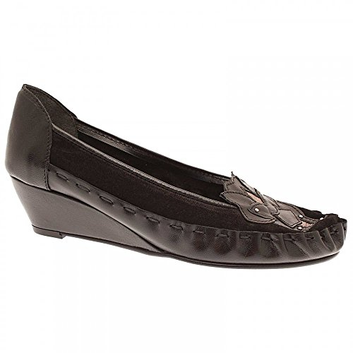 Zaccho Slip On Wedge Ballet Pump Black