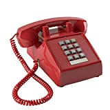AQWWHY Retro Telephone Landline Old-Fashioned American Antique Single Line Corded Desk Telephone with Loud Ringer Office Home Hotel