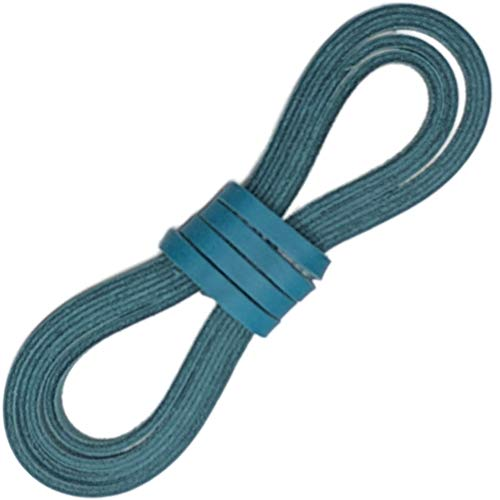 Tofl Leather Boot Laces-easy Sizing Cut to Fit (Teal) ()