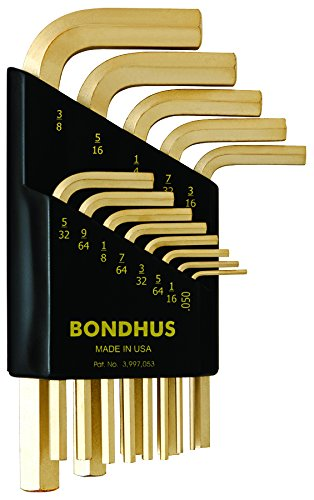 Bondhus 38237 Set of 13 Hex L-wrenches with GoldGuard? Finis