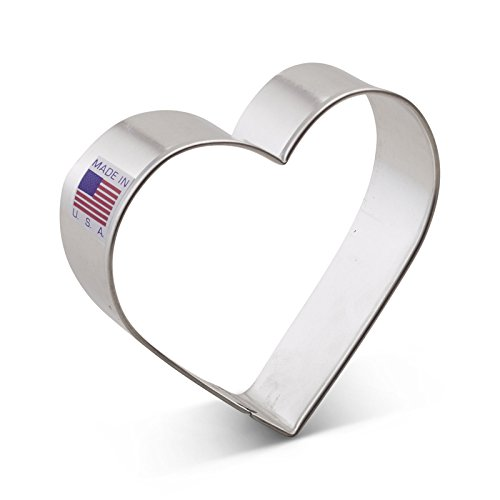 Ann Clark Heart Cookie Cutter - 3.25 Inches - Tin Plated ()