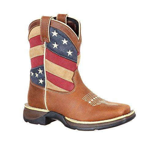 Durango Baby DBT0198C Western Boot, Brown/Patriotic, 10 M US Toddler