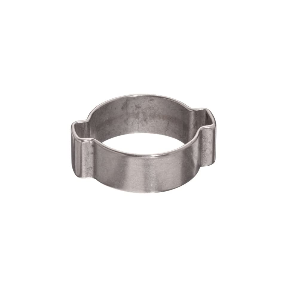 Dixon Valve 1113R Stainless Steel 304 Pinch On Double Ear Clamp, 1/2