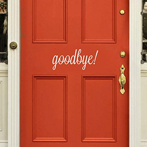 FimKaul Hello Howdy Welcome Good Bye Home Wall Art Home Decor Stickers Door Stickers (Good Bye White)]()