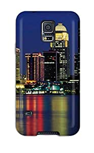 Ultra Slim Fit Hard AndrewTeresaCorbitt Case Cover Specially Made For Galaxy S5- City