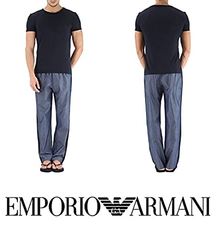 Emporio Armani 1115986P563-Pijama Hombre Blau (BLU 00334) Medium: Amazon.es: Ropa y accesorios