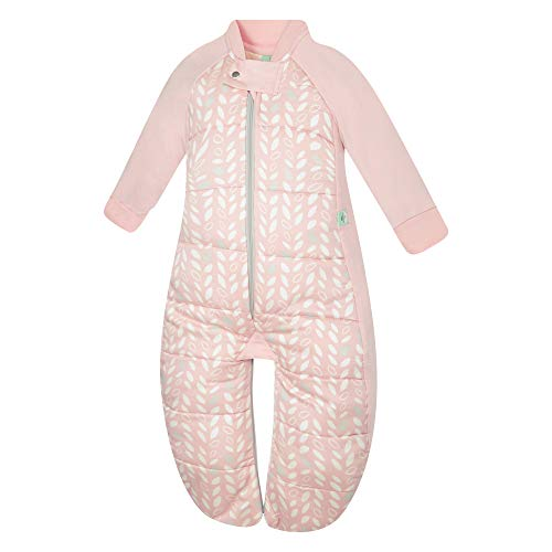 - ergoPouch 2.5 TOG Sleep Suit Bag 100% organic cotton filling with cotton sleeves and fold over mitts. 2 in 1 wearable blanket sleeping bag converts to sleep suit with legs (Spring Leaves, 2-12 months)
