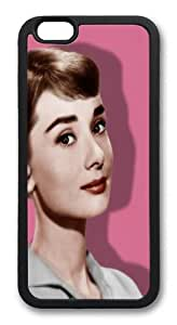 Audrey Hepburn 86 TPU Silicone Case Cover for iPhone 6 4.7 inch Black