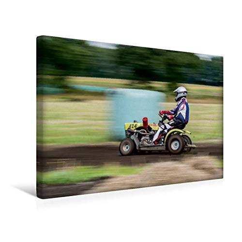 Premium Textil de lienzo 45 cm x 30 cm Cortacésped Racing ...