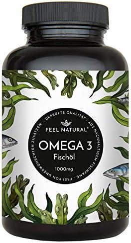 [Gesponsert]Omega 3 Fischöl Kapseln - 365 Kapseln im Jahresvorrat - Premium mit 1000mg Fischöl je Kapsel und den Omega 3 Fettsäuren...