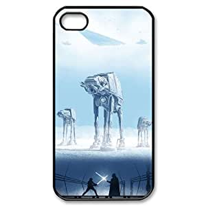 QSWHXN Customized Print Star Wars Pattern Back Case for iPhone 4/4S