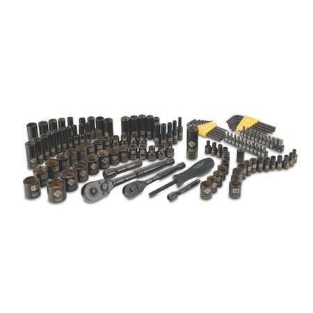 Stanley STMT72254 Black Chrome Vanadium Socket Set with Hex Keys, 123-Pieces