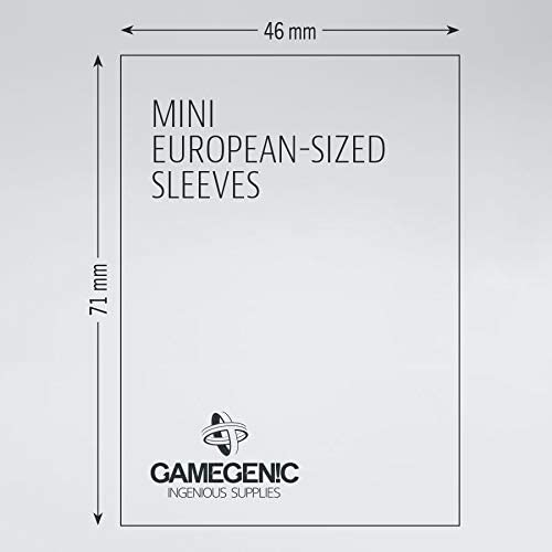 Mini European Bundle of 2 Packs GameGenic Prime Board Game Sleeves