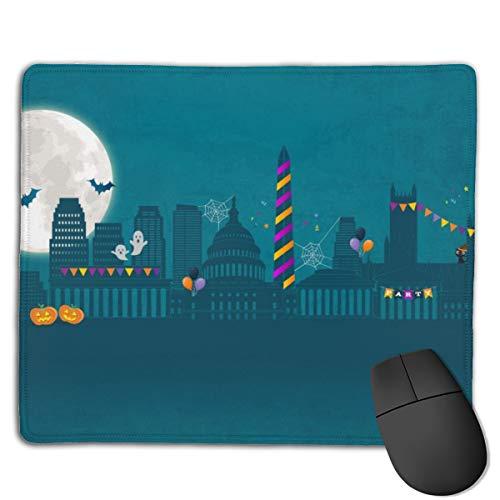 Best Halloween Party Washington Dc (Joseph Mouse Pad,Non Slip Waterproof Rubber Base Mousepad for Laptop,Scary Halloween Night Moon Bats Halloween Party Washington DC)