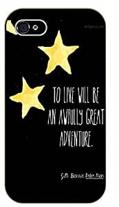 iPhone 5 / 5s To live will be an awfully great adventure. Peter Pan, J.M. Barrie - black plastic case / Inspirational and motivational