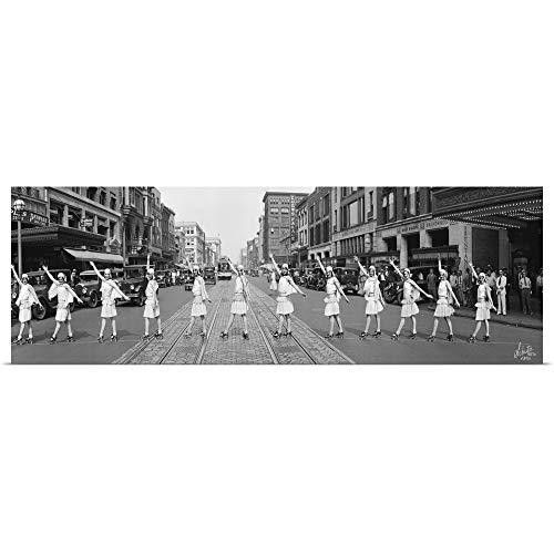 GREATBIGCANVAS Poster Print Entitled Fox Roller Skating Girls, Washington DC 1929 by 48