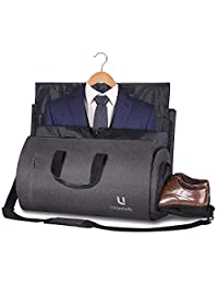 UNIQUEBELLA Carry-on Garment Bag Suit Travel Bag Duffel Bag Weekend Bag Flight Bag Gym Bag (Black)