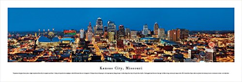 - Blakeway Worldwide Panoramas Kansas City, Missouri - Blakeway Panoramas Unframed Skyline Posters,