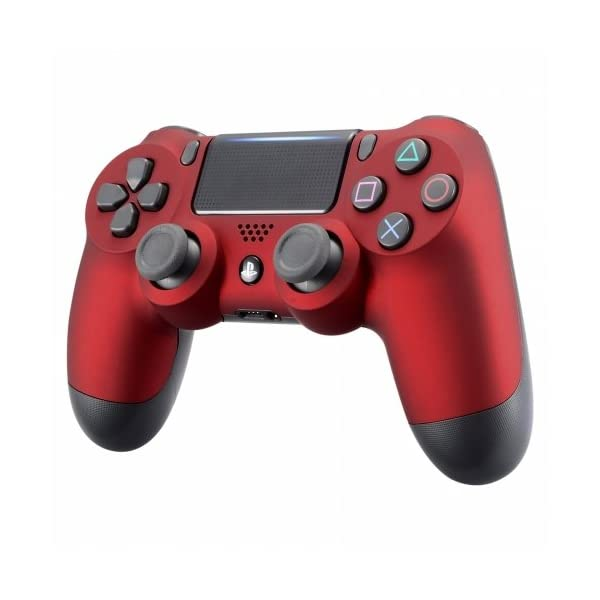 OC Gaming PS4 Dualshock Playstation 4 Wireless Controller Custom Soft Touch New Model JDM-040 (Red) 3