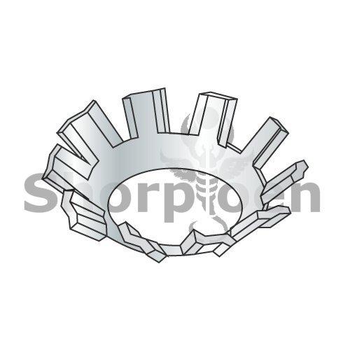 82 Degree External Tooth Countersunk Lock Washer Zinc 3/8 (Box of 6000) weight18Lbs by Korpek.com