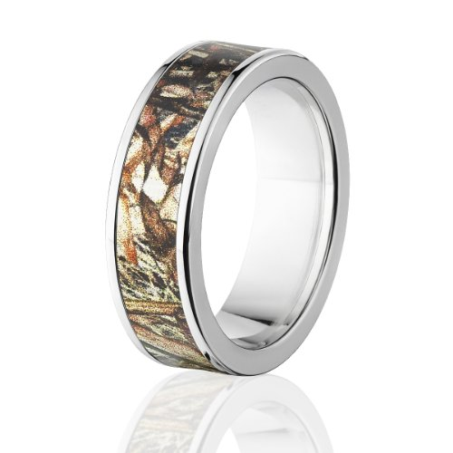 (Duck Blind Camouflage Rings, Official Camo Bands, Titanium Camo Rings)