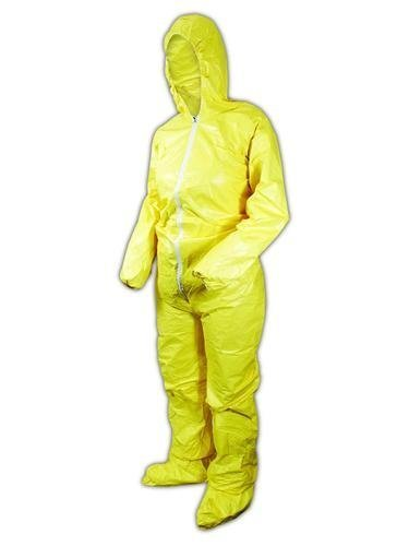 DuPont-QC122SYL2X00-Tychem-QC-Chemical-Protection-Coveralls-with-Serged-Seams-Front-Zipper-Closure-Attached-Hood-Sock-Boots-Elastic-Face-Elastic-Wrists-2X-Yellow