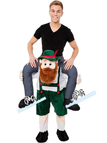 Bavarian Beer Guy Carry Me Costume Ride On Piggy Back Mascot Oktoberfest Adults - Dragon Ball Z Hercule Costume