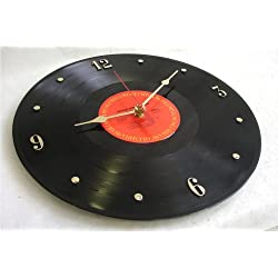 IT'S OUR EARTH Vinyl Record Clock Hand Made Using a Bruce Springsteen Record