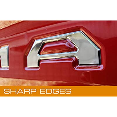 EyeCatcher Tailgate Insert Letters fits 2016-2020 Toyota Tacoma (Chrome): Automotive
