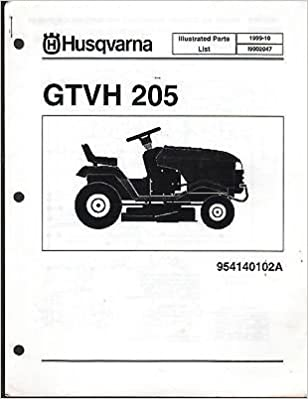 1999 HUSQVARNA GTVH 205 RIDING LAWN GARDEN TRACTOR MOWER