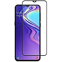 Newlike [Anti Glare] [Scratch Proof] Full Coverage 5D Tempered Glass for Samsung Galaxy M20- Black
