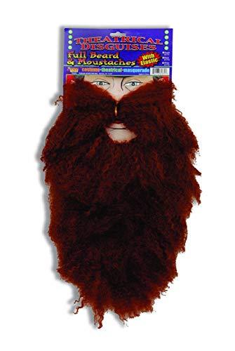 Forum Novelties Brown Beard and Moustache Combo