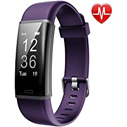 Lintelek Fitness Tracker, Customized Activity Tracker with Heart Rate Monitor, 14 Sports Modes Smart Watch IP67 Waterproof Bluetooth Pedometer for Men, Women and Kids