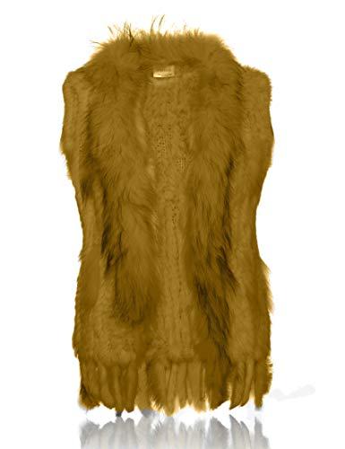 de Veste tricote Lapin Goldenrod de Soft avec Fourrure col HEIZZI Raccoon 100 lgant wHqXgntxS