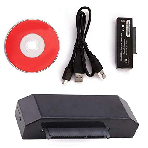 USB Hard Drive Data Transfer Cable HDD Cord Kit for Xbox 360 Slim to PC with CD (Transfer Games From Pc To Xbox 360)
